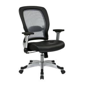 Black and Grey AirGrid Back Office Chair