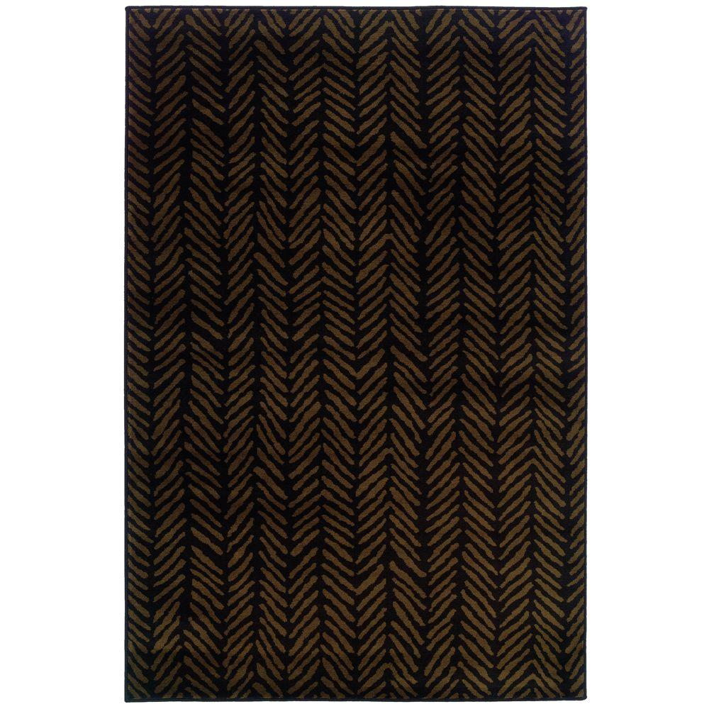 Oriental Weavers Camille Sable Brown 3 ft. 2 in. x 5 ft. 5 in. Area Rug