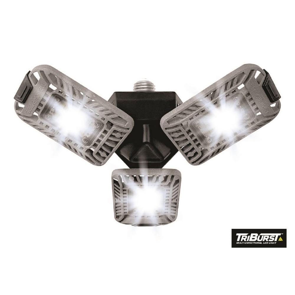TriBurst 10.5 in. 144 High Intensity LED Flush Mount Ceiling Light with 3 Adjustable Heads