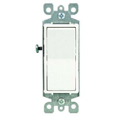 Decora 15 Amp Single Pole AC Quiet Switch, White (10-Pack) on