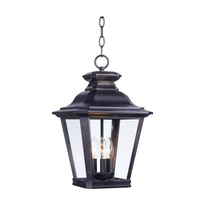 Knoxville 11 in. Wide Bronze 3-Light Outdoor Hanging Lantern