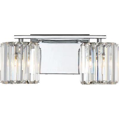 Divine 2-Light Polished Chrome Vanity Light