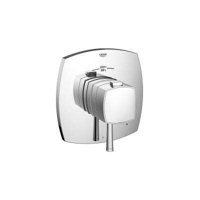 Grandera GrohFlex Single Handle Single Function Thermostatic Valve Trim Kit in StarLight Chrome (Valve Sold Separately)