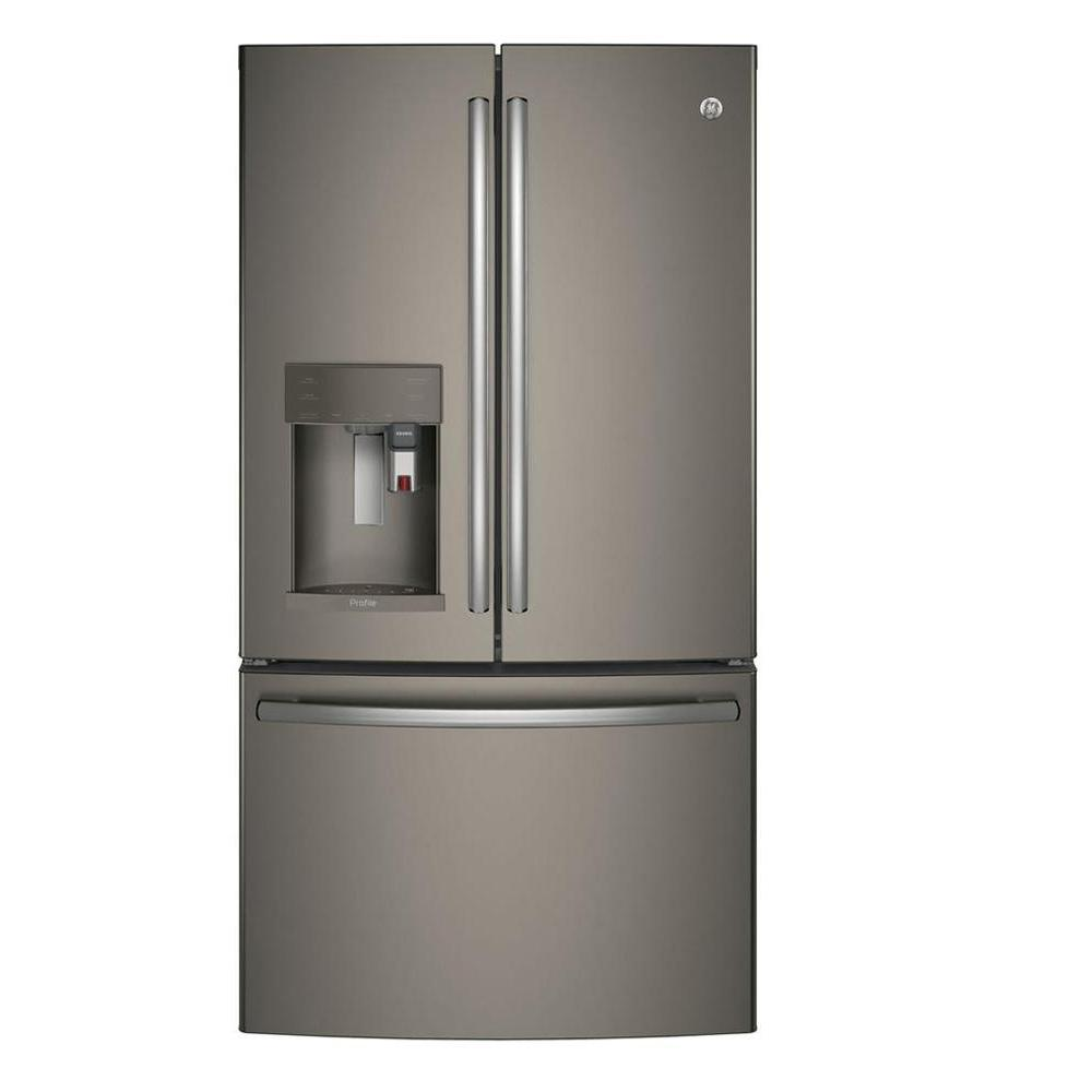 GE Profile 36 in. W 27.8 cu. ft. Smart French Door Refrig...