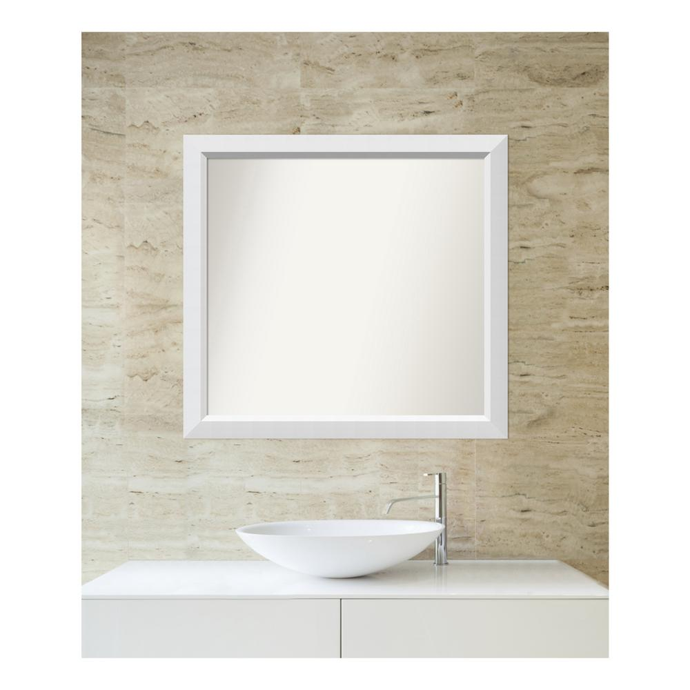 Amanti Art Choose Your Custom Size 30 in. x 32 in. Blanco White Wood Framed Mirror was $311.28 now $150.03 (52.0% off)