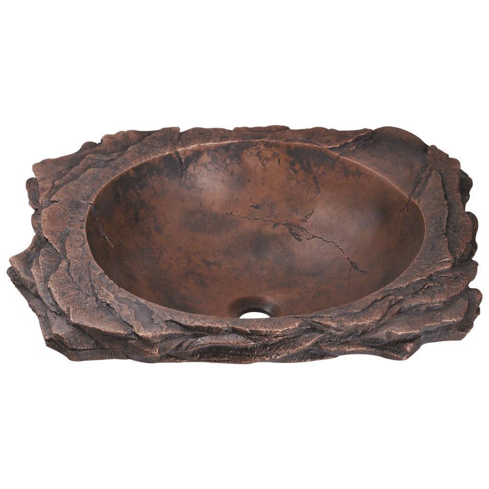 Top-Mount Bathroom Sink in Bronze