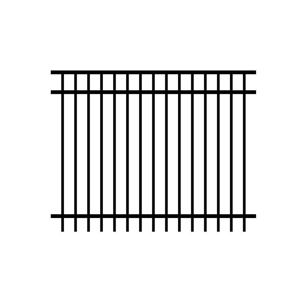 Installed Aluminum Ornamental Metal Fence