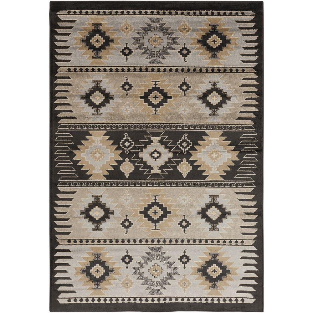 Zuata Light Gray 5 ft. 3 in. x 7 ft. 6 in. Indoor Area Rug