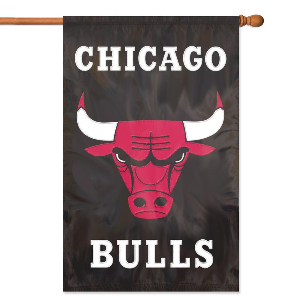 Chicago Bulls Applique Banner Flag