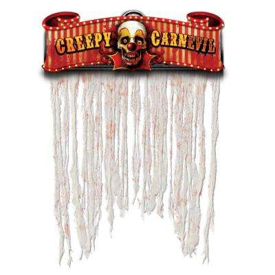 54 in. x 38 in. Halloween Creepy Carnival Doorway Curtain (2-Pack)