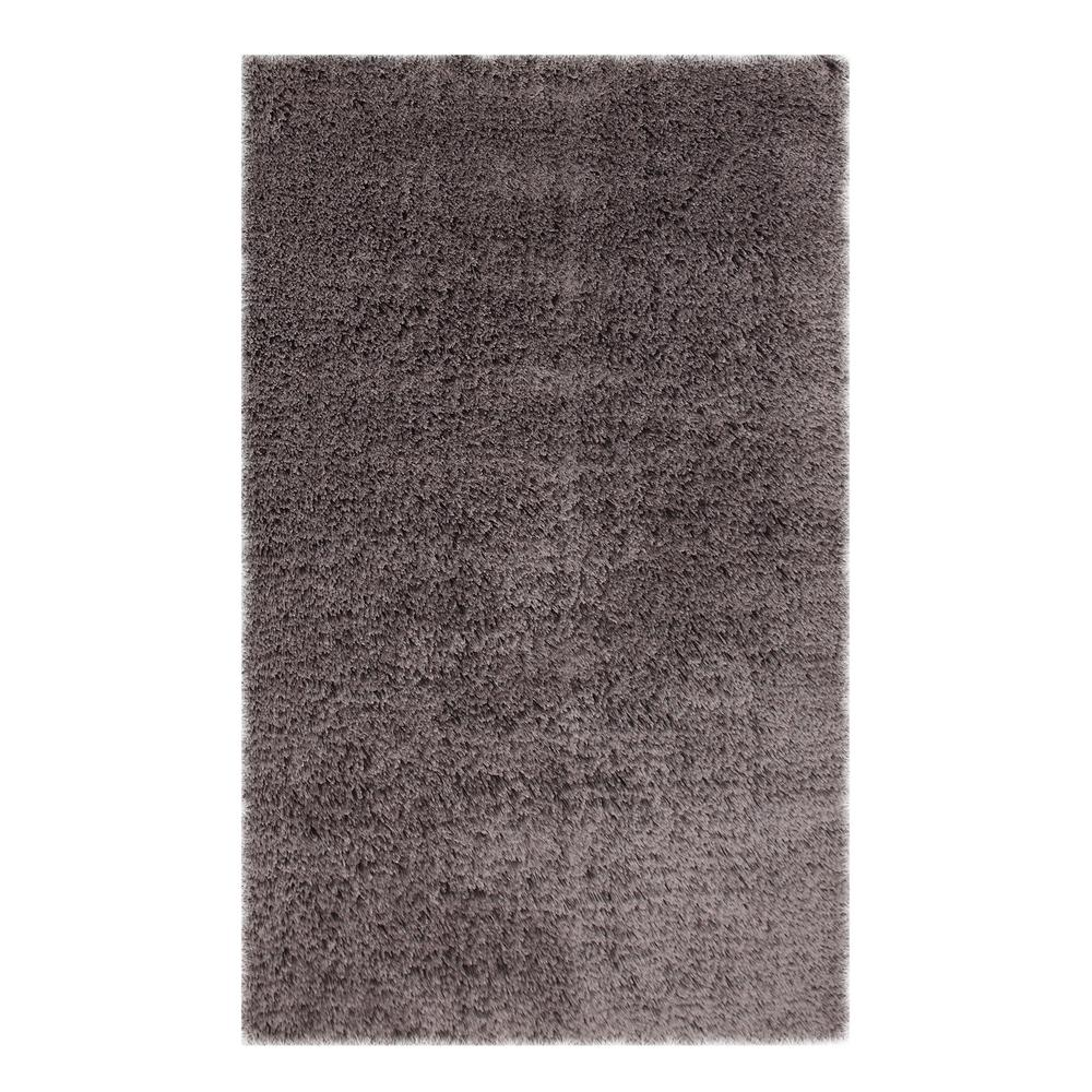 Microfiber Shag Grey 5 ft. x 7 ft. Area Rug