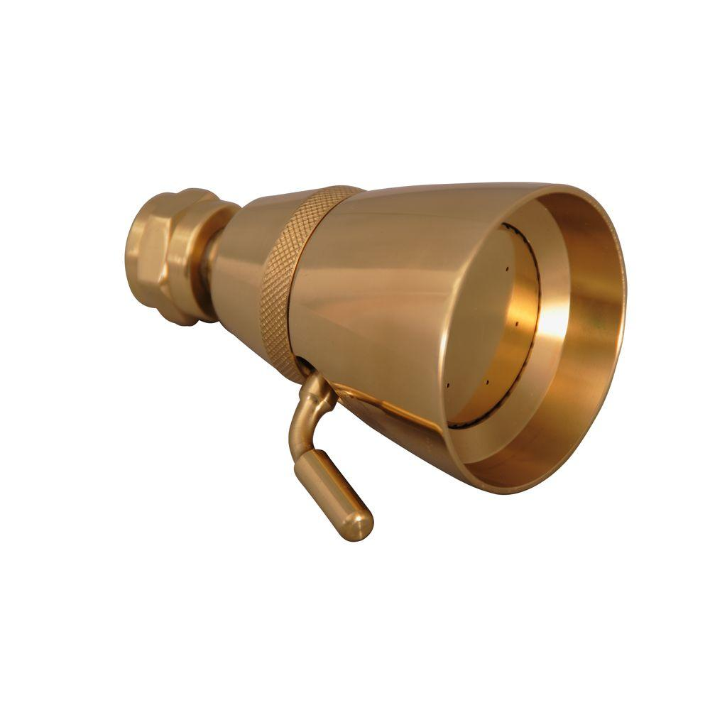 Barclay Products 1-Spray 2-1/4 in. Traditional Showerhead in Polished Brass