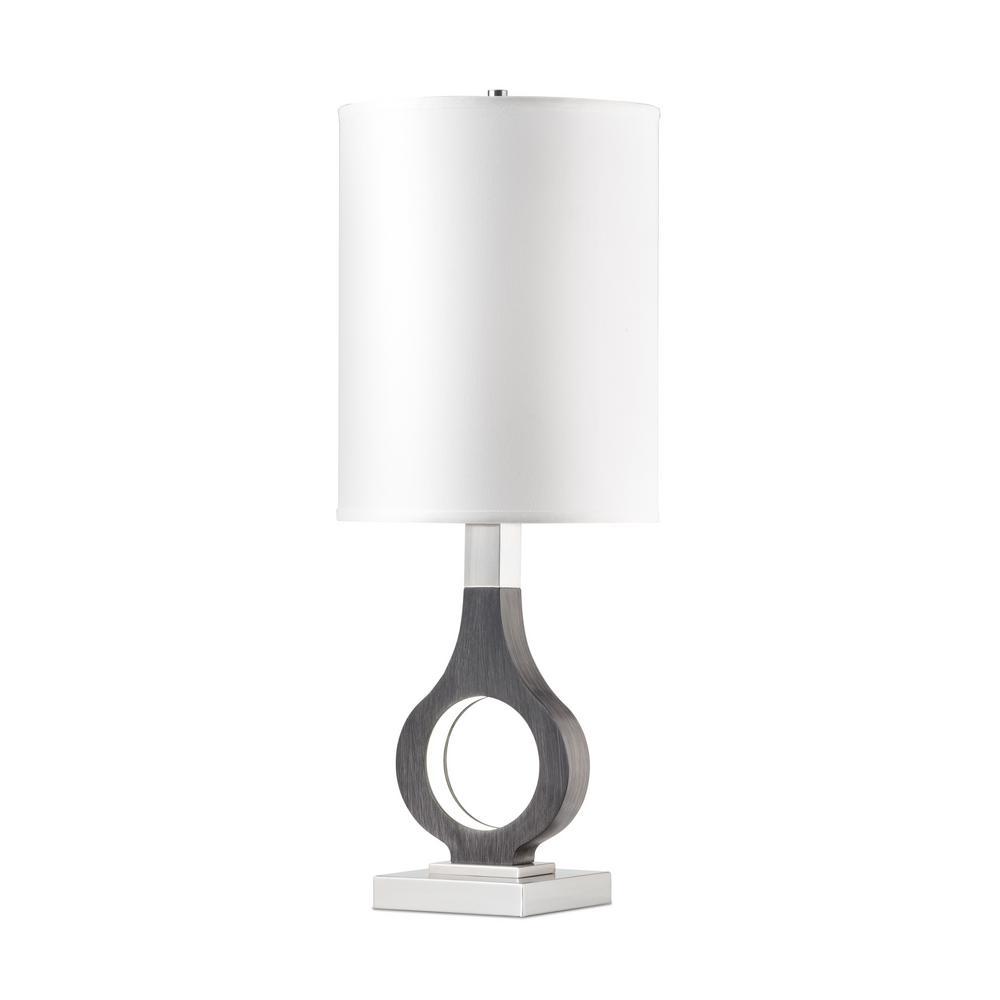 NOVA of California Keyhole 32 in. Charcoal Gray Table Lamp