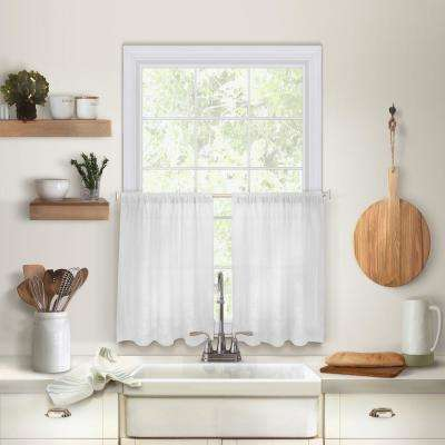 Cameron 30 in. W x 24 in. L Linen Kitchen Tiers in White (Set of 2)