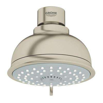 New Tempesta Rustic 100 4-Spray 4 in. Showerhead in Brushed Nickel InfinityFinish