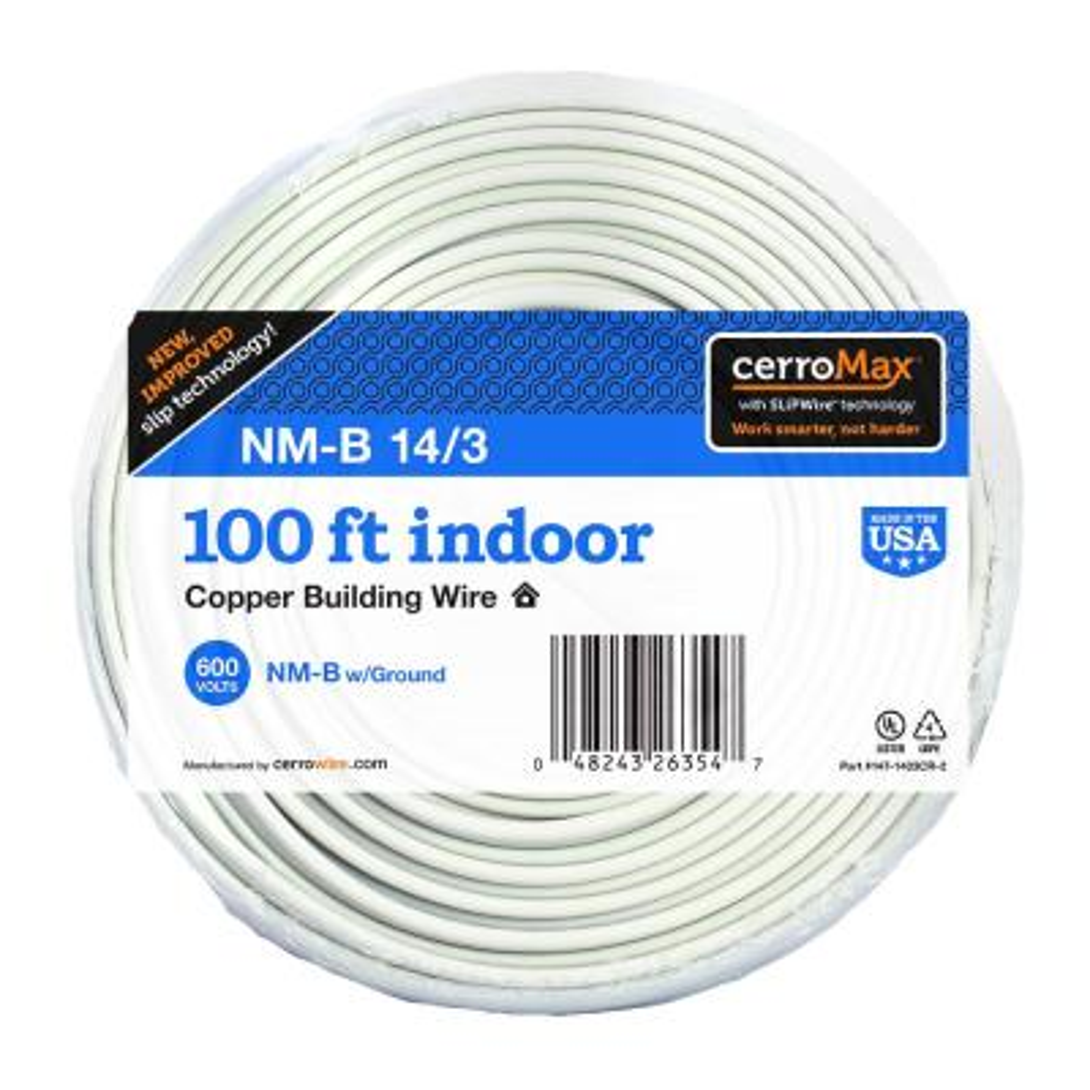 100 ft. 14/3 NM-B Wire, White