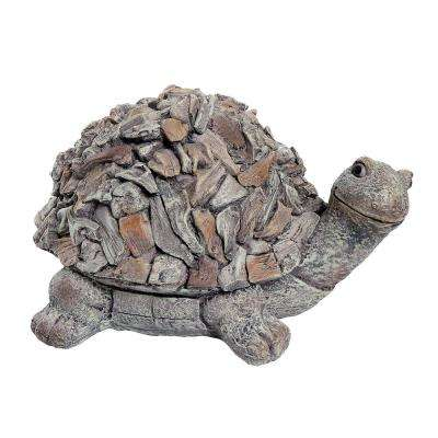 9 in. Tall Turtle Stone Garden Statue