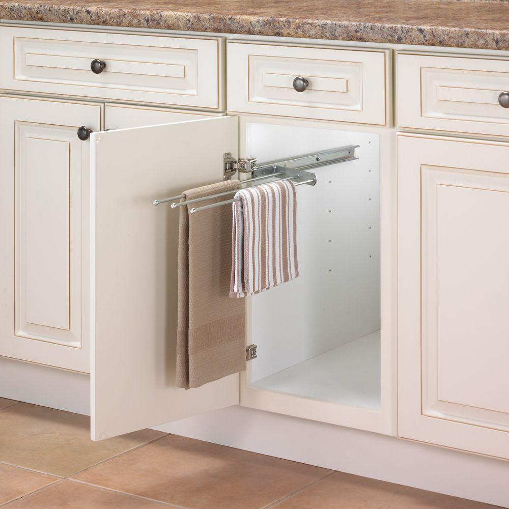 1 in. H x 5 in. W 18 in. D Pull Out 3 : towel rack for kitchen cabinet - Cheerinfomania.Com