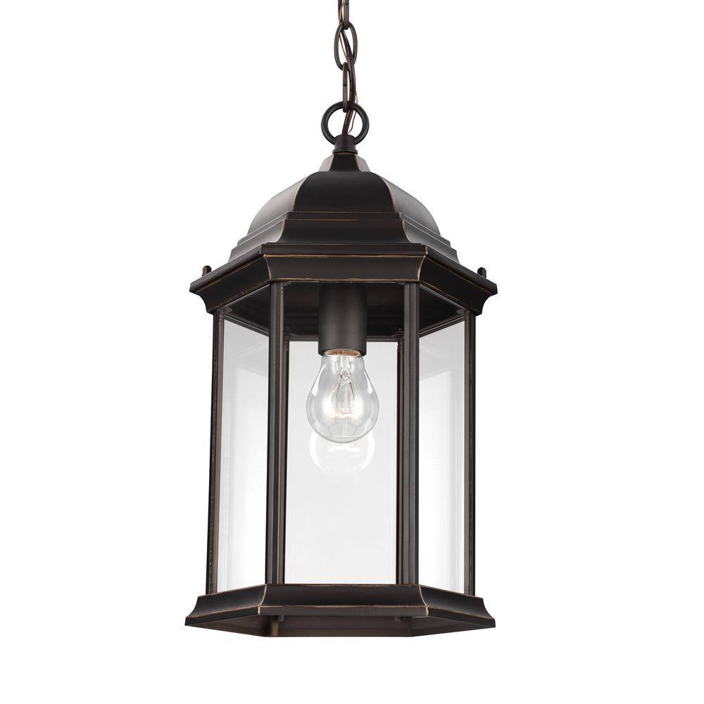 Sevier Antique Bronze 1-Light Outdoor Hanging Pendant