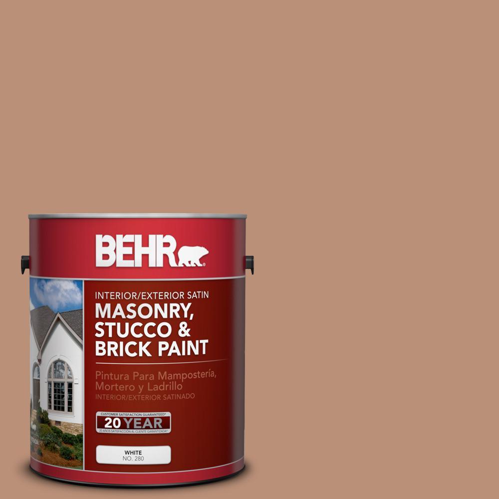 1 gal. #BXC-46 Mojave Dusk Satin Interior/Exterior Masonry, Stucco and Brick Paint