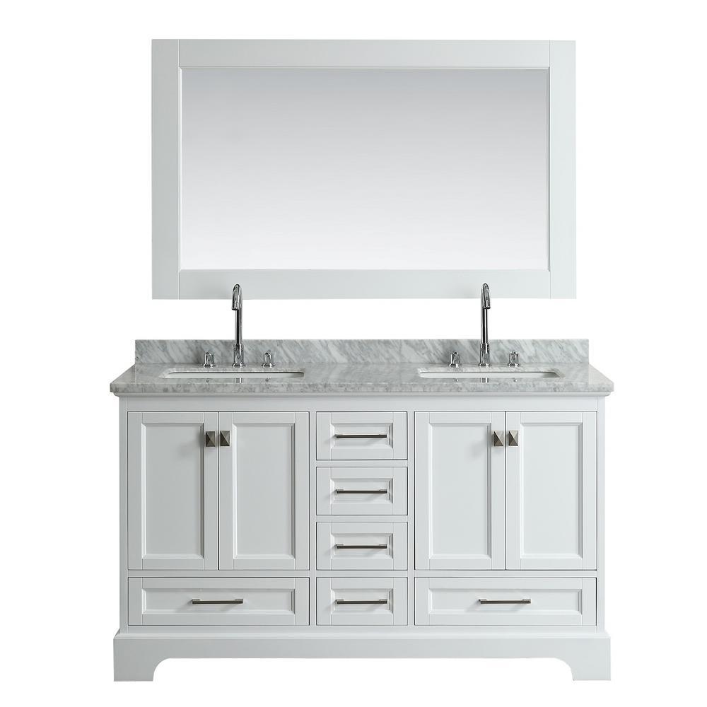 Design Element Omega 61 In. W X 22 In. D Vanity In White