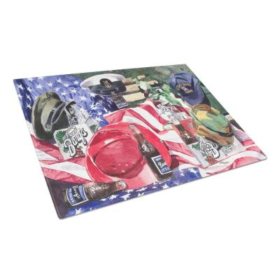 Barq's and Armed Forces Tempered Glass Large Cutting Board