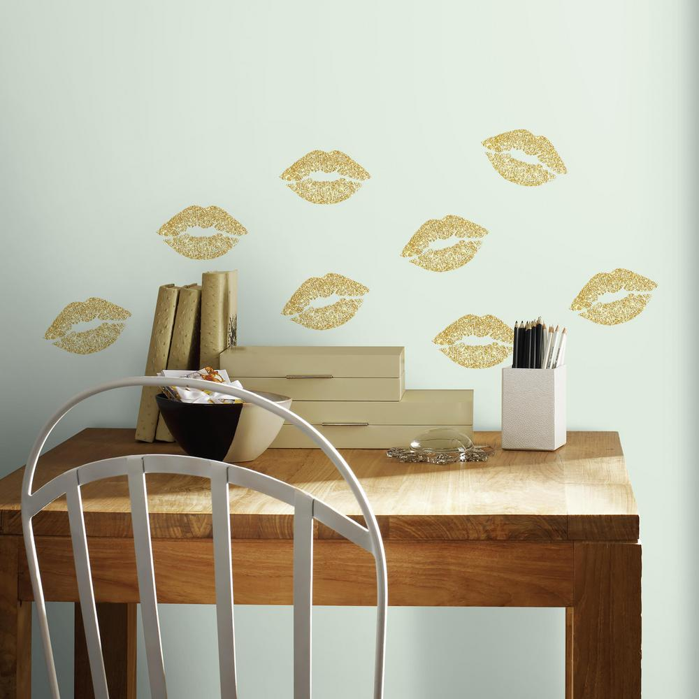 5 in. x 11.5 in. Lip 8-Piece Peel and Stick Wall