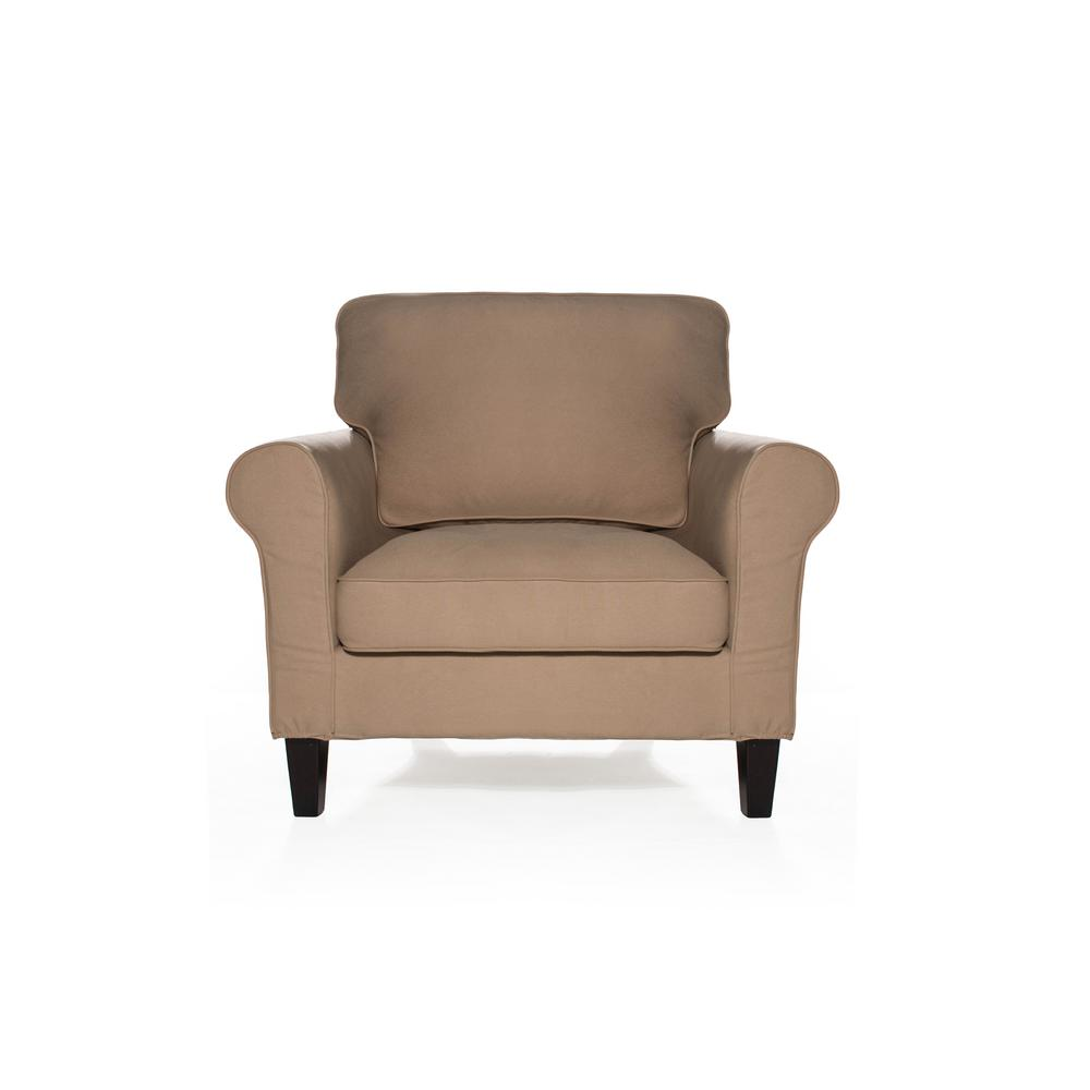 Sofas 2 Go Walton Khaki Chair-S2G-M8-C-SKY544 - The Home Depot