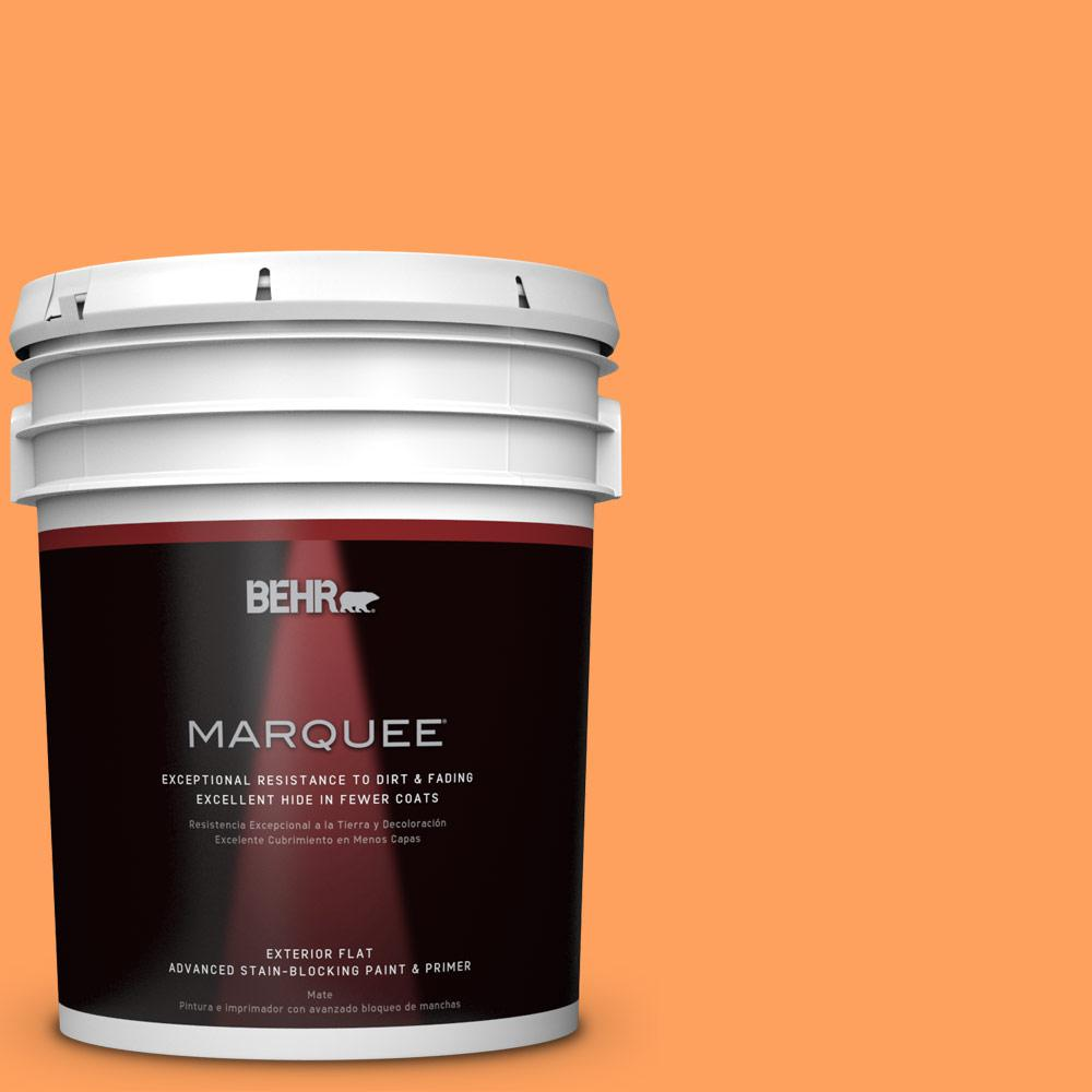 BEHR MARQUEE 5 gal. #T15-10 Clarified Orange Flat Exterior Paint