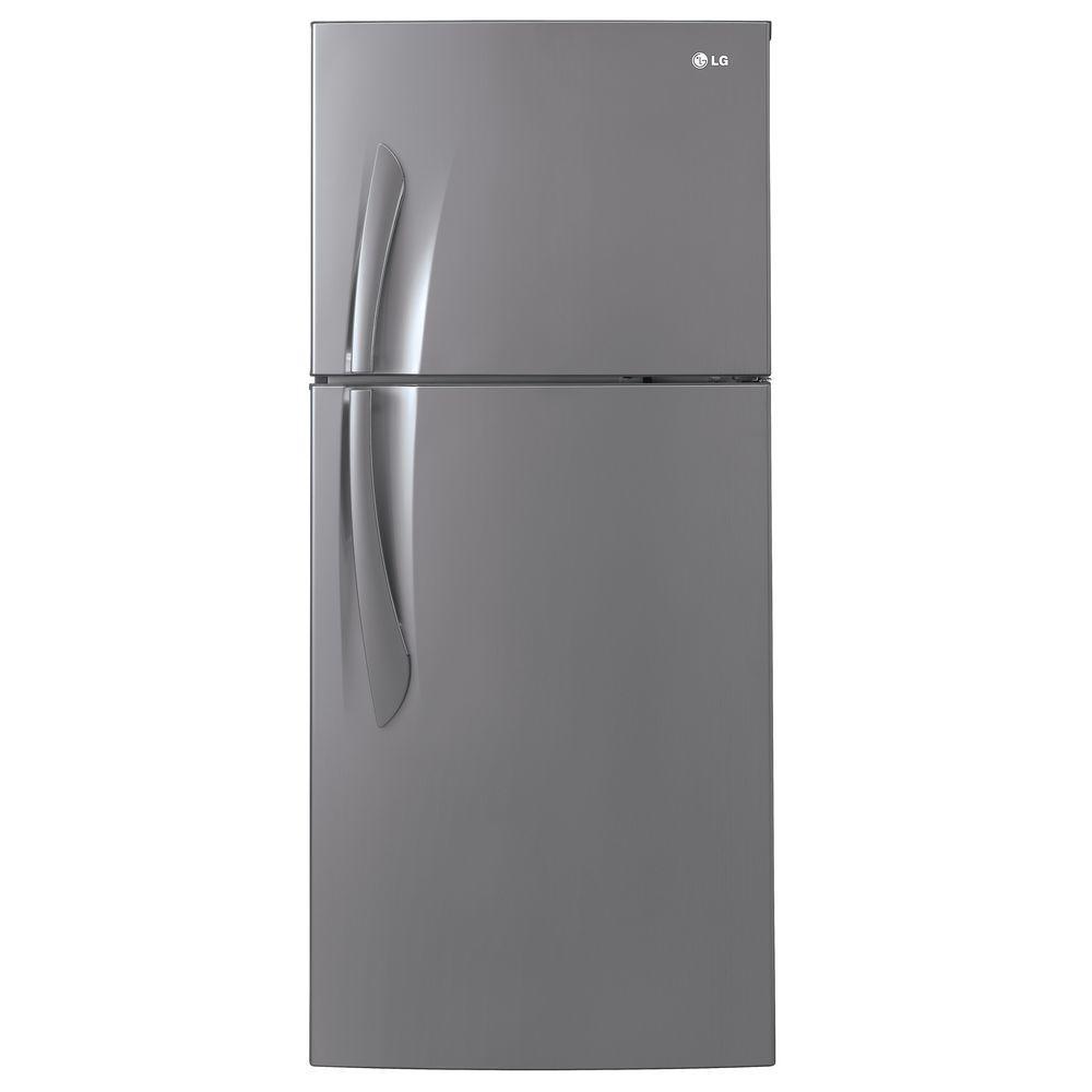 LG Electronics 15.7 cu. ft. Top Freezer Refrigerator in Platinum Finish