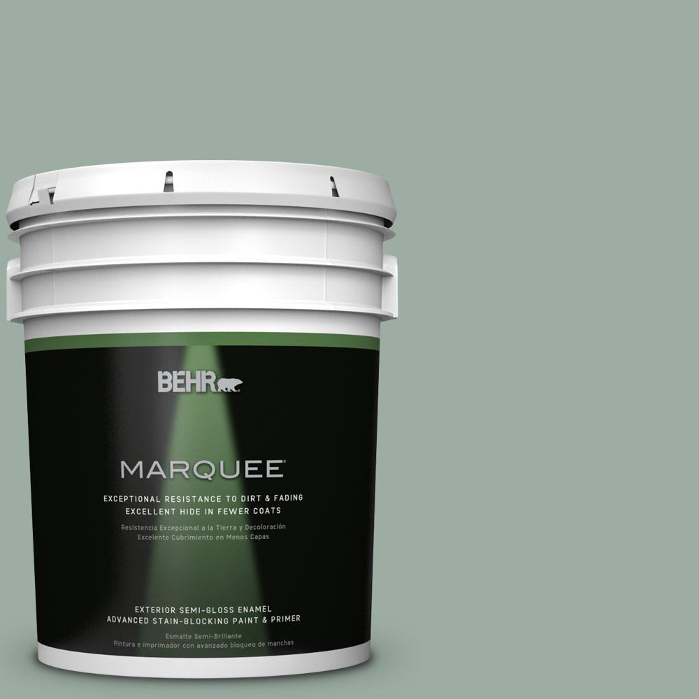BEHR MARQUEE 5-gal. #N420-3 Misty Moss Semi-Gloss Enamel Exterior Paint