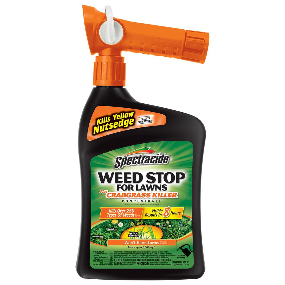 Spectracide Weed Stop 32 oz. Ready-to-Spray Concentrate for Lawns Plus Crabgrass Lawns