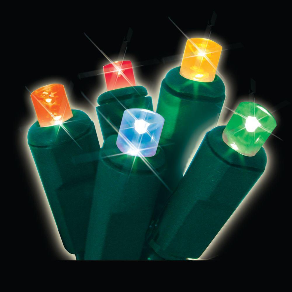 50-Light Multi-Colored Micro Mini LED Light Set (Set of 2)