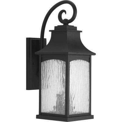 Maison Collection 2-Light Black 20 in. Outdoor Wall Lantern Sconce