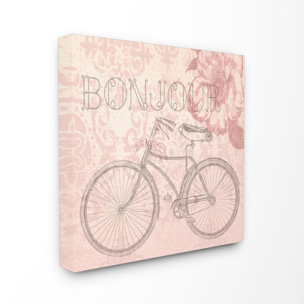 Stupell Industries 24 in. x 24 in. ''Bonjour Vintage Bicycle Paris''
