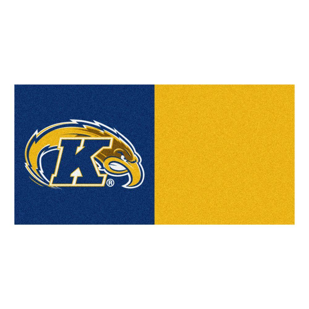 NCAA - Kent State University Yellow and Blue Pattern 18 in.