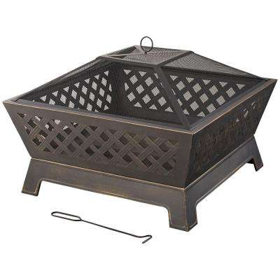 Wood Fire Pits Outdoor Heating The Home Depot