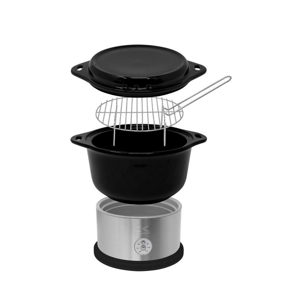 Black Ceramic Steamer