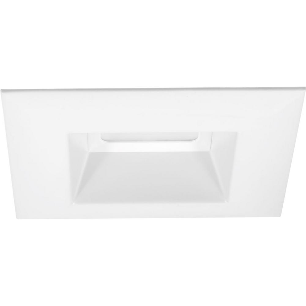 Retrofit Square Collection 5 in. White Integrated LED Recessed Trim