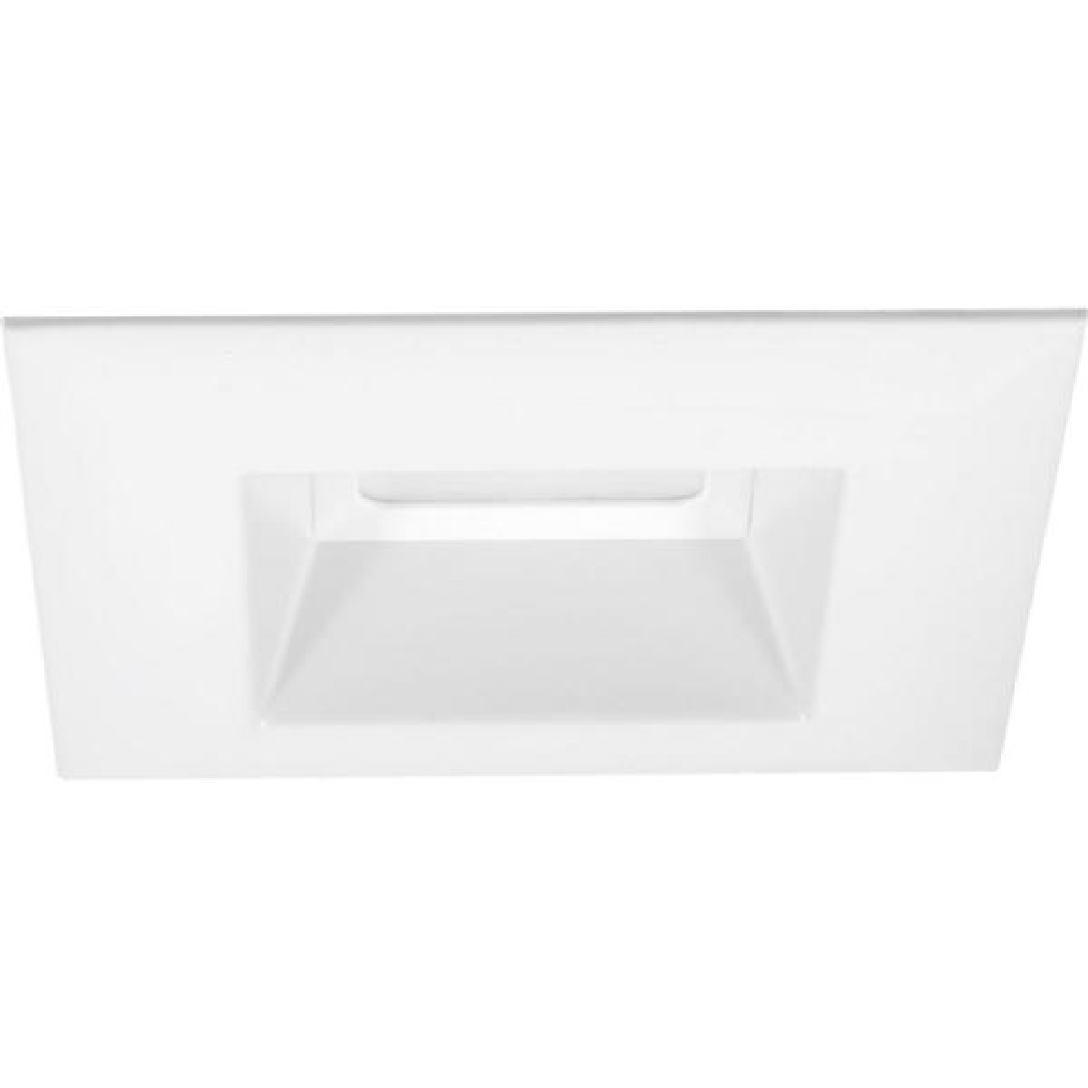 Retrofit Square Collection 5 in. White Integrated LED Recessed Trim