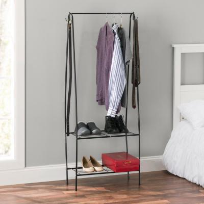 Black Steel Clothes Rack (14 in. W x 60 in. H)