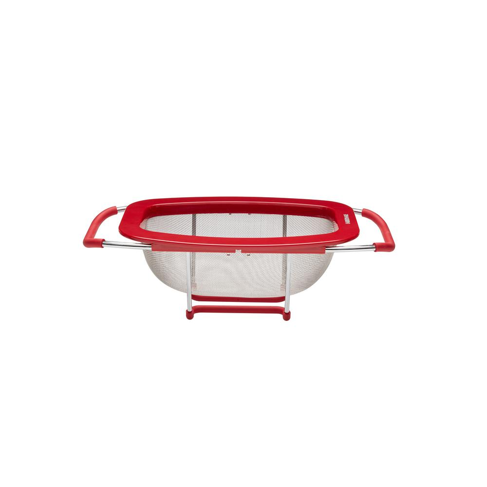 Professional Expandable Colander Red