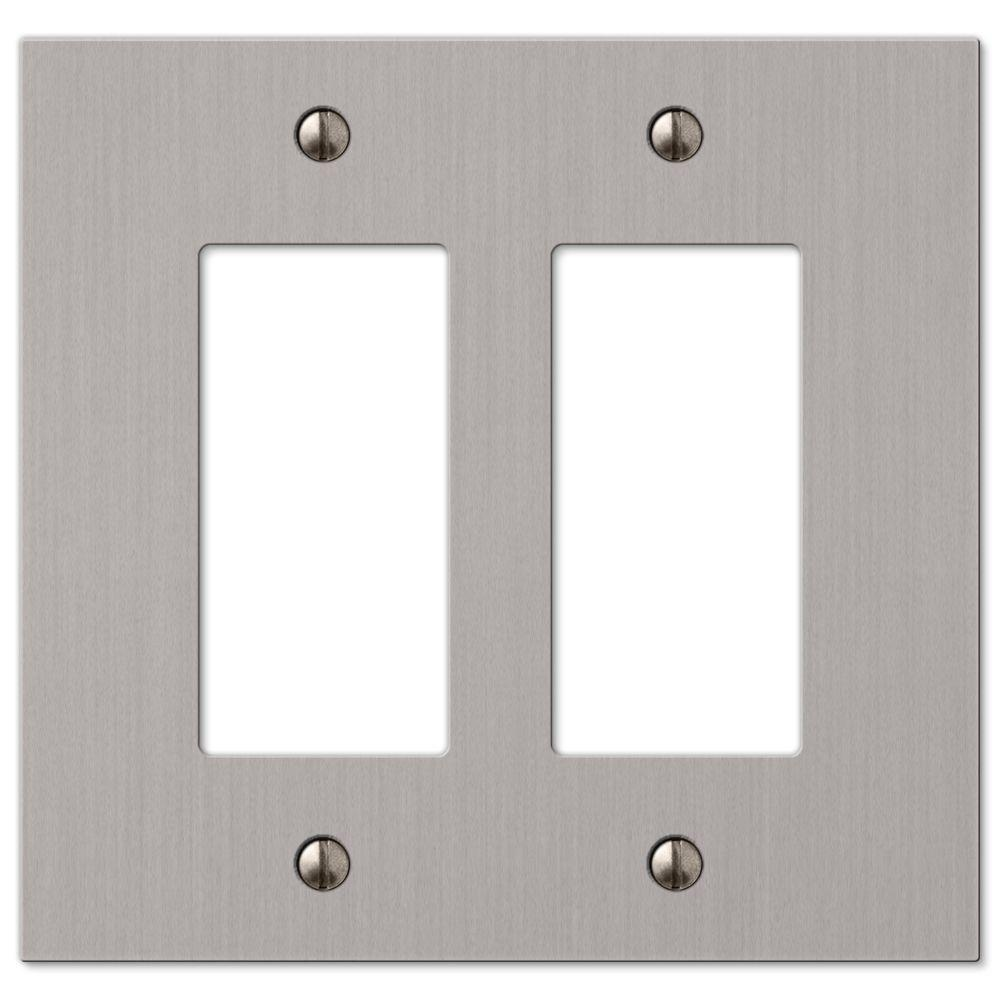 Amerelle Elan 2 Decorator Wall Plate Brushed Nickel 55rrbn The