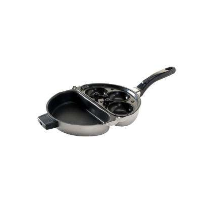 Folding Steel Egg Poacher and Omelet Pan