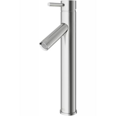Dior Single Hole Single-Handle Vessel Bathroom Faucet in Brushed Nickel