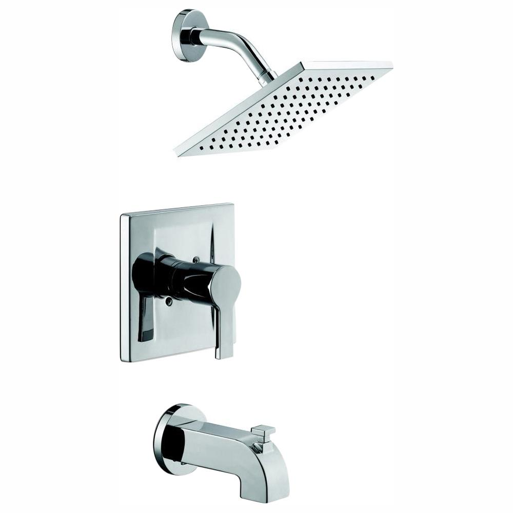 Shower Faucet.Glacier Bay Modern Single Handle 1 Spray Tub And Shower Faucet In Chrome Valve Included