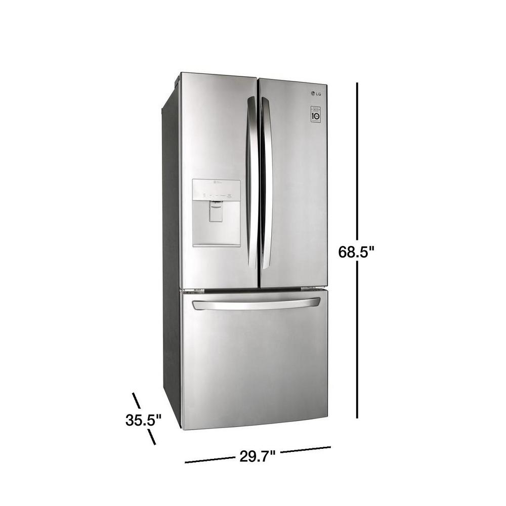 21 8 Cu Ft French Door Refrigerator