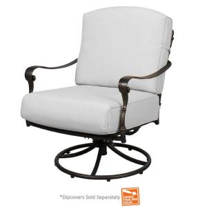 Edington Patio Swivel Rocker Lounge Chair with Cushions Included, Choose Your Own Color