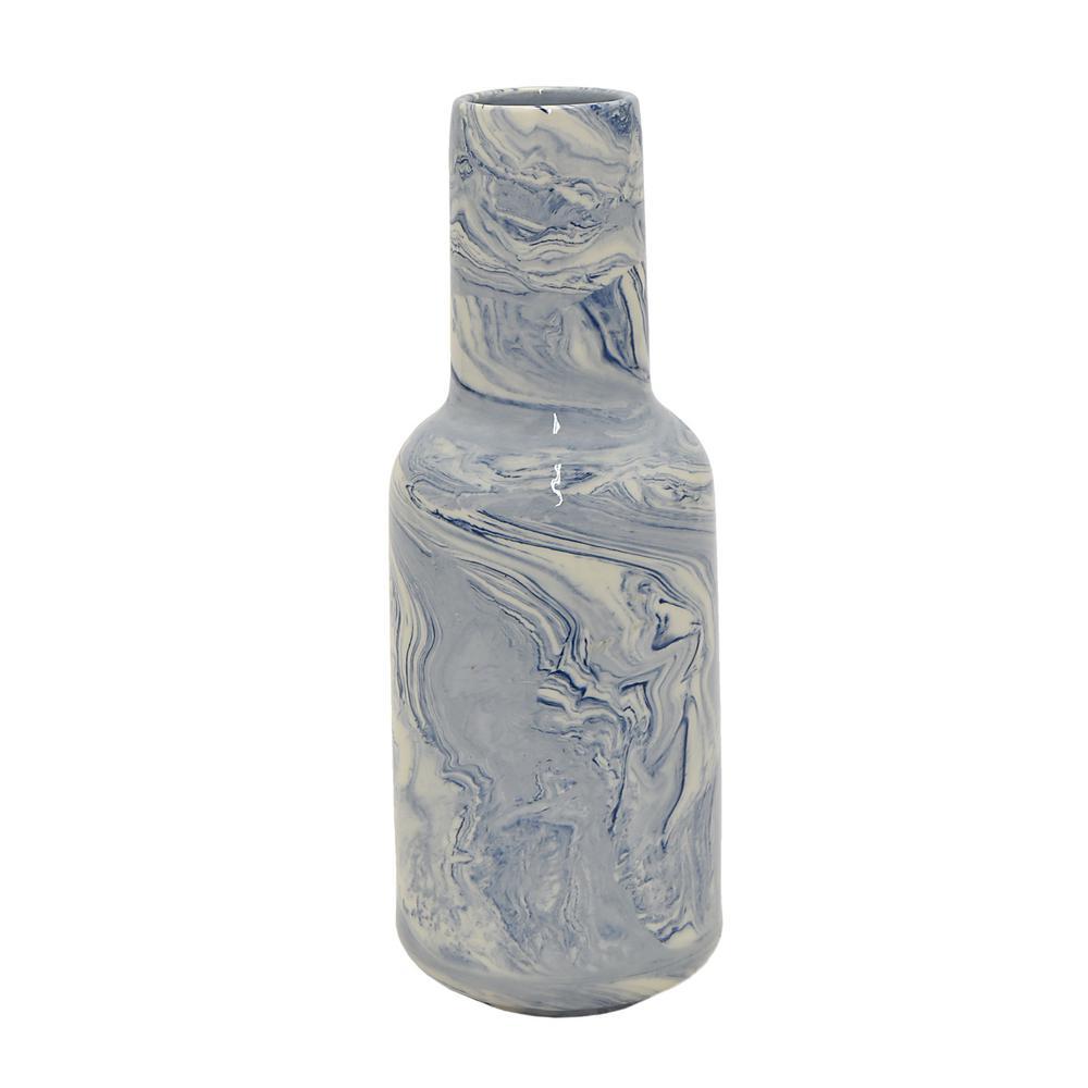 Blue Marble Ceramic Decorative Vase