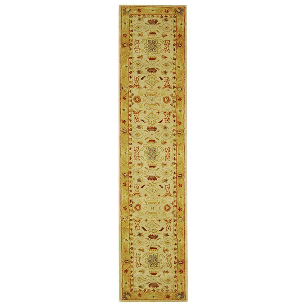 Anatolia Ivory/Gold 2 ft. x 22 ft. Runner Rug